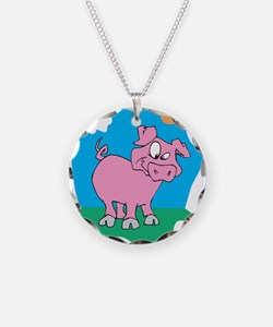 Cute Pig in the Sun Necklace