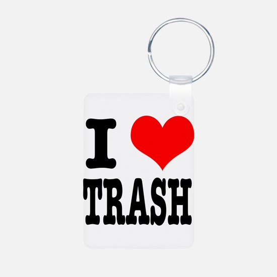 I Heart (Love) Trash Keychains