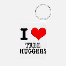 I Heart (Love) Tree Huggers Keychains