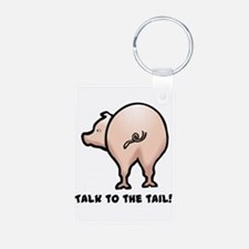 Talk to the Tail Pig Keychains