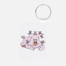 Pig with Babies Keychains