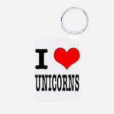 I Heart (Love) Unicorns Keychains