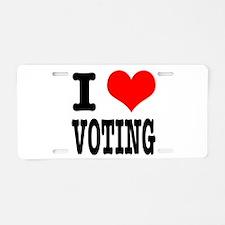 I Heart (Love) Voting Aluminum License Plate