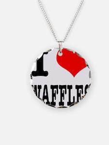 I Heart (Love) Waffles Necklace