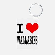 I Heart (Love) Wallabies Keychains