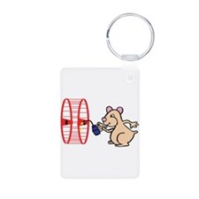 Hamster with Squeaky Wheel Keychains