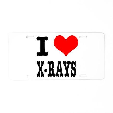 I Heart (Love) Xrays Aluminum License Plate