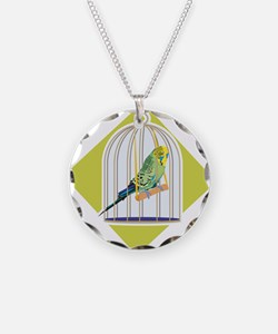 Parakeet in Bird Cage Necklace