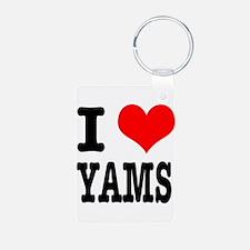 I Heart (Love) Yams Keychains