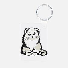 Cute White Persian Kitten Keychains