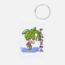 Florida flamingo Aluminum Photo Keychain