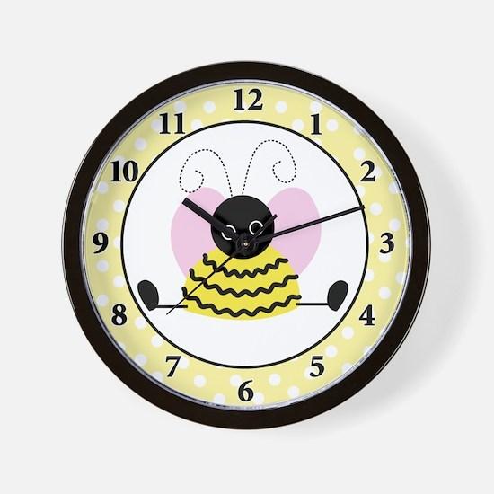 Little Bumble Bee Wall Clock