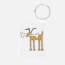 Silly Dog with Bone Keychains
