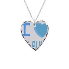 Blue I Heart (Love) My Aunt Necklace Heart Charm
