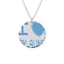 Blue I Heart (Love) My Aunt Necklace Circle Charm