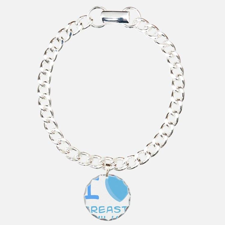 Blue I Heart (Love) Breast Mi Bracelet
