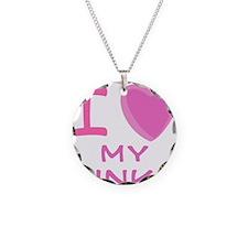 Pink I Heart (Love) My Binky Necklace