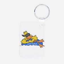 Ducky on a Raft Keychains