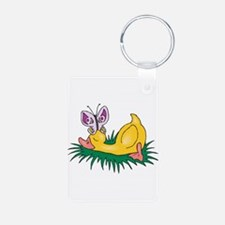 Cute Sleeping Duck Keychains