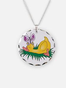 Cute Sleeping Duck Necklace
