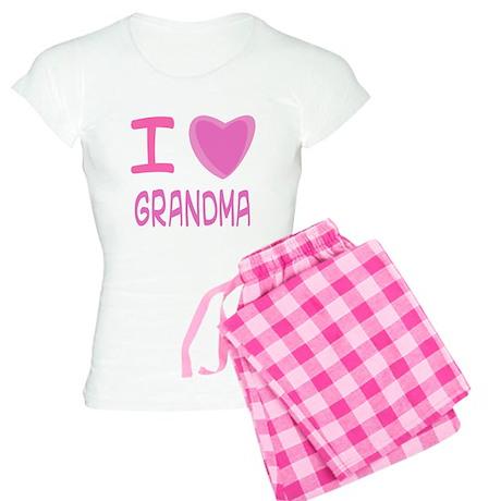 Pink I Heart (Love) Grandma Women's Light Pajamas