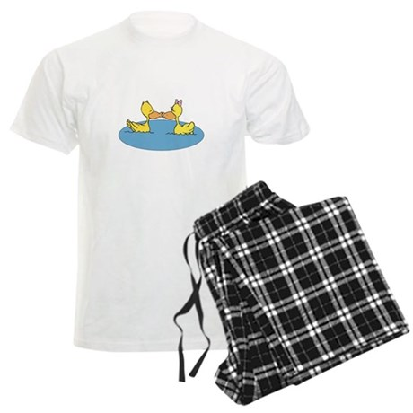 Kissing Ducks Men's Light Pajamas