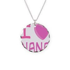 Pink I Heart (Love) Nana Necklace Circle Charm