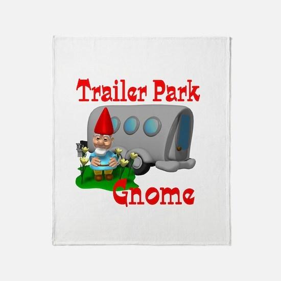 Trailer Park Gnome Throw Blanket