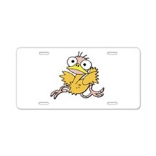 Funky Chicken Aluminum License Plate