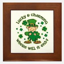 Lucky & Charming Kids Framed Tile