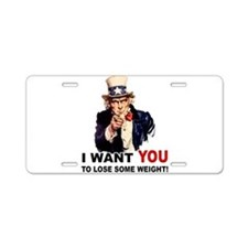 Want You To Lose Weight Aluminum License Plate