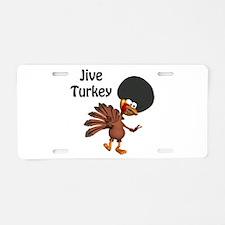 Funny Afro Jive Turkey Aluminum License Plate