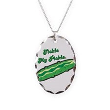 Tickle My Pickle Necklace Oval Charm