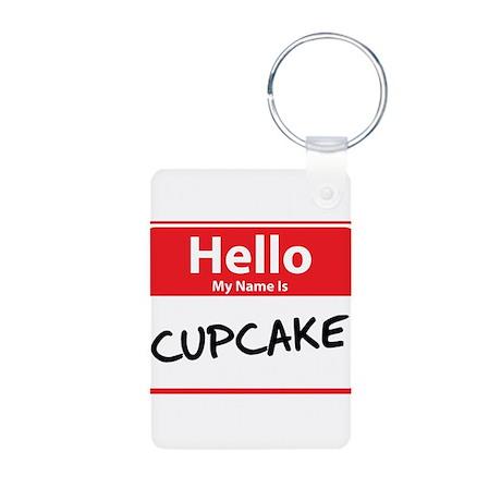 Hello My Name is Cupcake Aluminum Photo Keychain