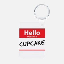 Hello My Name is Cupcake Keychains