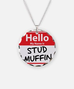 Hello My Name is Stud Muffin Necklace