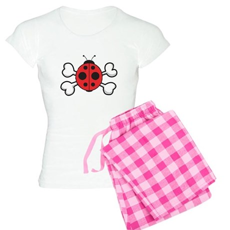 Cute Ladybug & Crossbones Women's Light Pajama