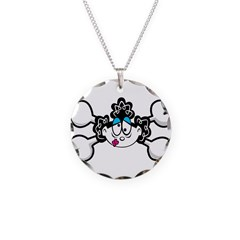 Silly Retro Girl Crossbones Necklace