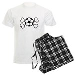 Soccer Ball Crossbones Design Men's Light Pajamas
