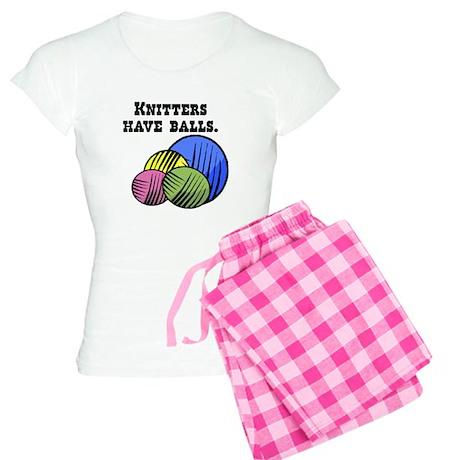 Knitters Have Balls! Women's Light Pajamas
