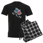 Cute Needle & Thread Design Men's Dark Pajamas