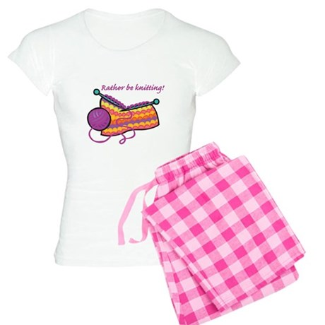 Rather Be Knitting Design Women's Light Pajamas