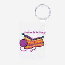 Rather Be Knitting Design Keychains