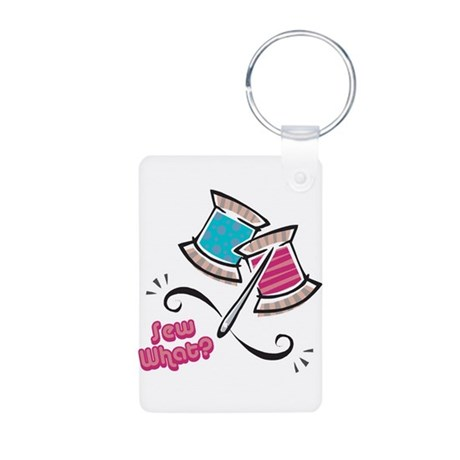 So (Sew) What? Design Aluminum Photo Keychain