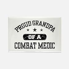 Proud Combat Medic Grandpa Rectangle Magnet