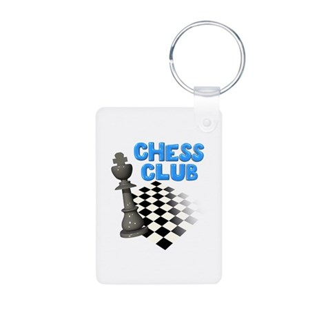 Chess Club Aluminum Photo Keychain