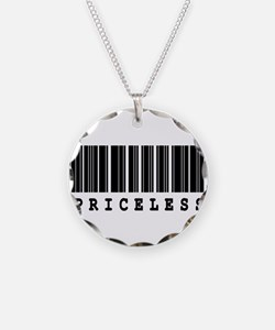 Priceless Barcode Design Necklace