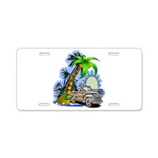 Tropical Scene Aluminum License Plate