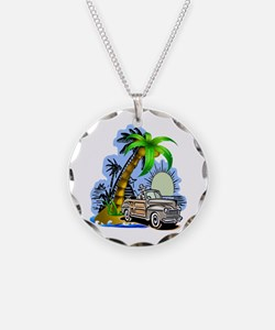 Tropical Scene Necklace