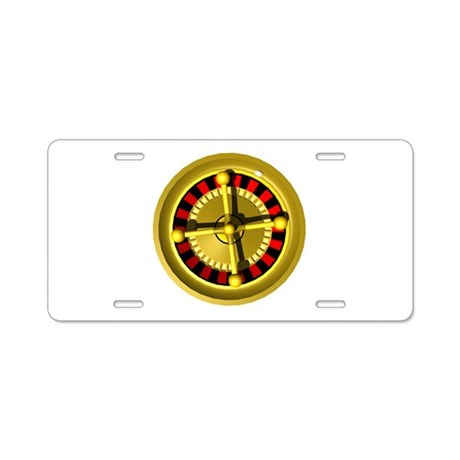Roulette Wheel Aluminum License Plate